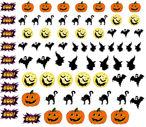 Halloween Code 3  Nail Decals