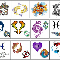 Pisces Temporary Tattoo