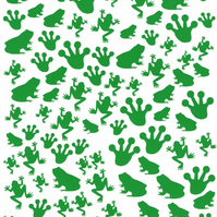 Frog  ( Green  )  Press on  Nail Stickers
