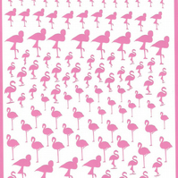 Flamingo   ( Pink  )  Press on  Nail Stickers