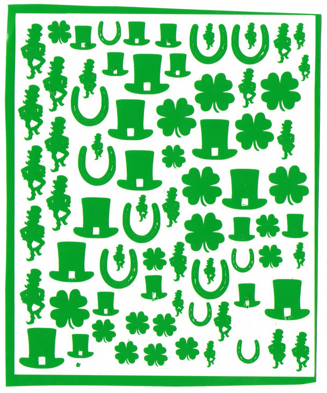 Patricks Day Ireland  ( red )  Press on  Nail Stickers