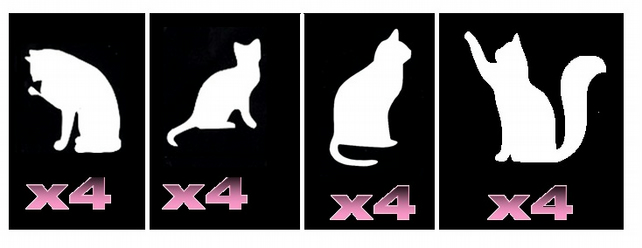 16 Cat  Tattoo Stencils