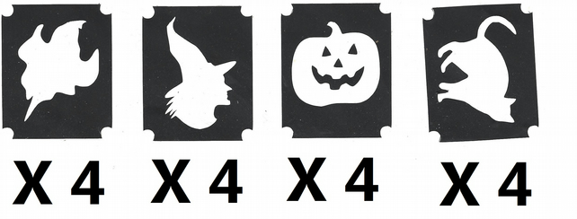 16 Halloween  Tattoo Stencils