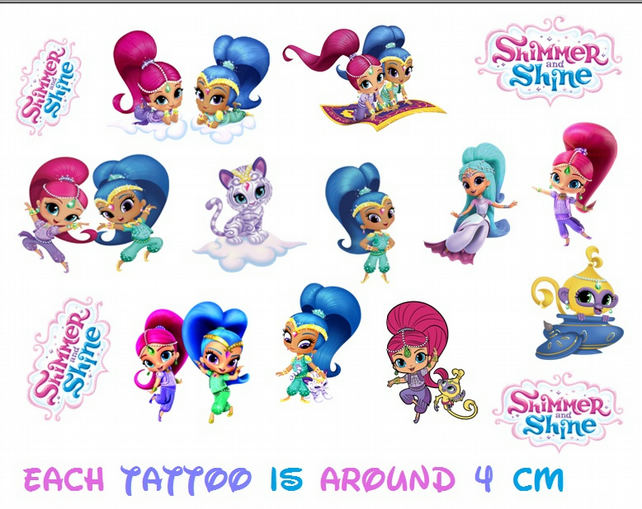 Shimmer and Shine Temporary Tattoo