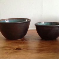 Set of Two Wheel-Thrown Nesting Bowls