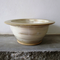 Small Stoneware Dessert Bowl - Slipware - Farmhouse - Wheel Thrown - Home Decor