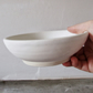 Matte White Stoneware Bowl - Wheel Thrown Pottery - Handmade - Ceramics -