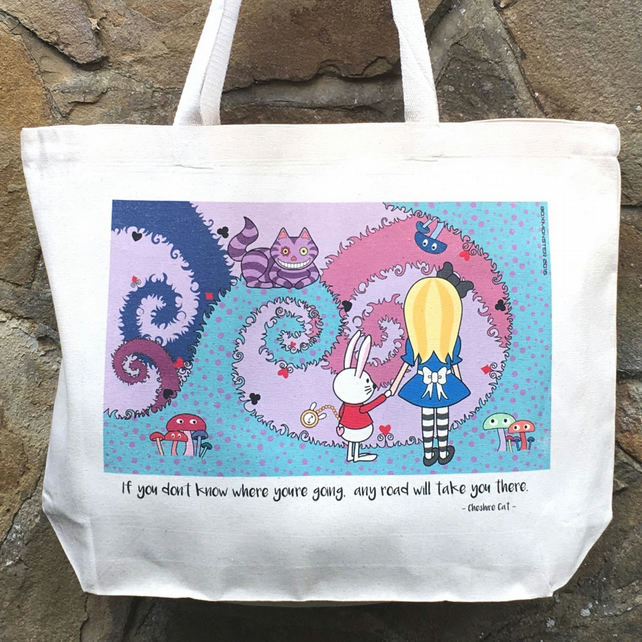 Alice in Wonderland Cute Tote Bag