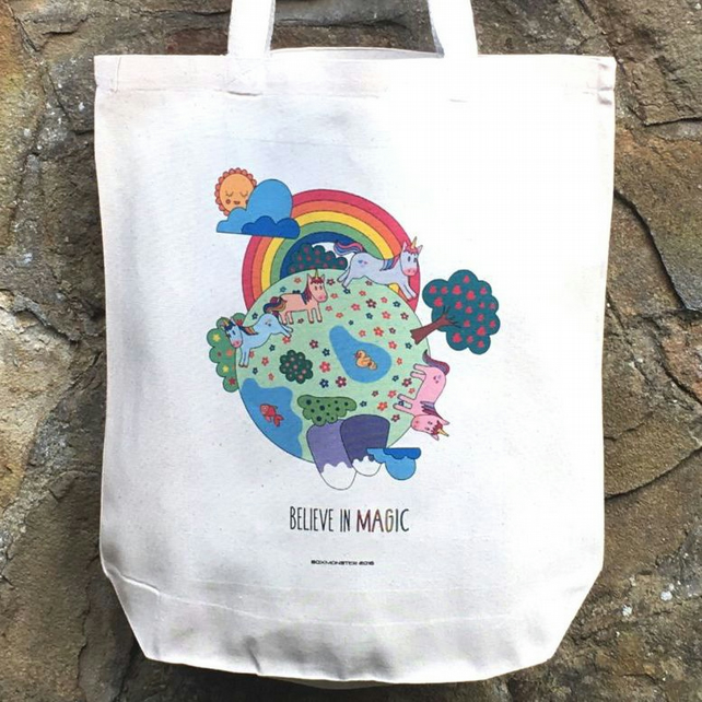 Unicorns' World Cute Tote bag
