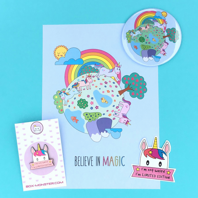 Cute Unicorns' World Small Gift Set