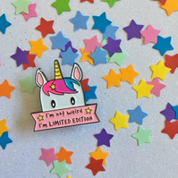 Cute Limited Edition Unicorn Enamel Pin