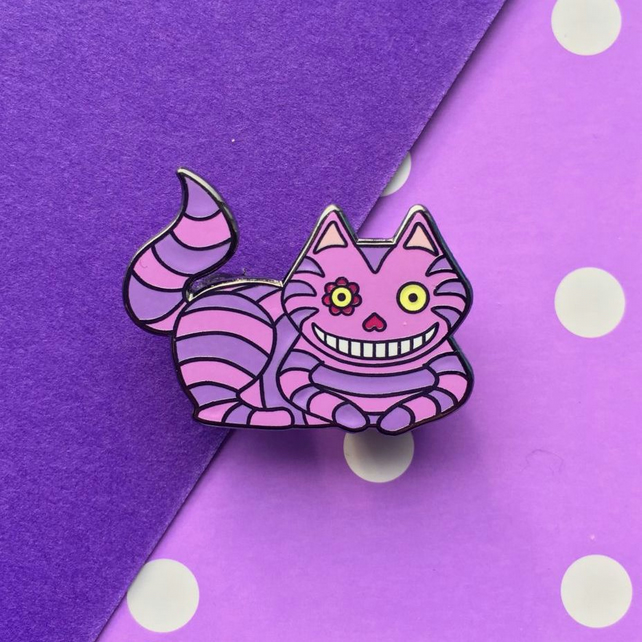 Cheshire Cat Enamel Pin