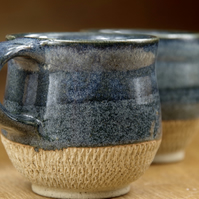 Set of Two Ceramic Mugs, Pottery Cups, Handmade Stoneware Teacups, Coffee Cups