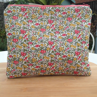 Liberty fabric make up bag