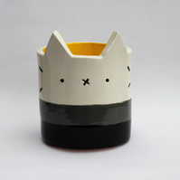 Ceramic kitty pot SAMPLE