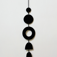 Ceramic monochrome wall hanging