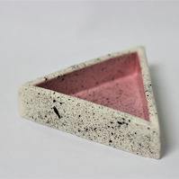 Ceramic pink triangle trinket dish