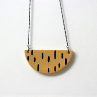 Ceramic mustard necklace