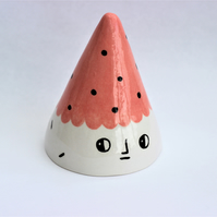 Ceramic decorative character face cone