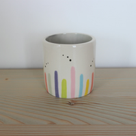 Ceramic pastel stripe pot