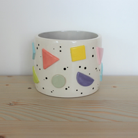 Ceramic pastel shape pot