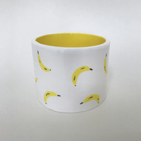 Ceramic hand painted banana pot