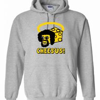 Cheesus  ,Hoodie,80% Cotton,20% polyester Men's, Wome