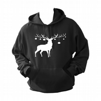 Christmas Deer Rein   ,Hoodie,80% Cotton,20% polyester Men's, Wome