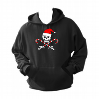 Christmas Skull   ,Hoodie,80% Cotton,20% polyester Men's, Wome