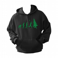Christmas Tree Hunter Evolution ,  ,Hoodie,80% Cotton,20% polyester Men's, Wome