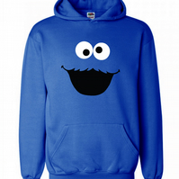 Coockie Monster ,Hoodie,80% Cotton,20% polyester Men's, Wome