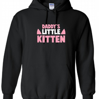 Daddy s Little Kitten , ,Hoodie,80% Cotton,20% polyester Men's, Wome