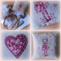 fairy cushion embroidery kit