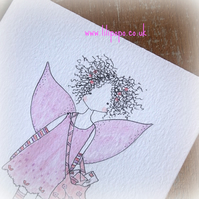 postal fairy original illustration