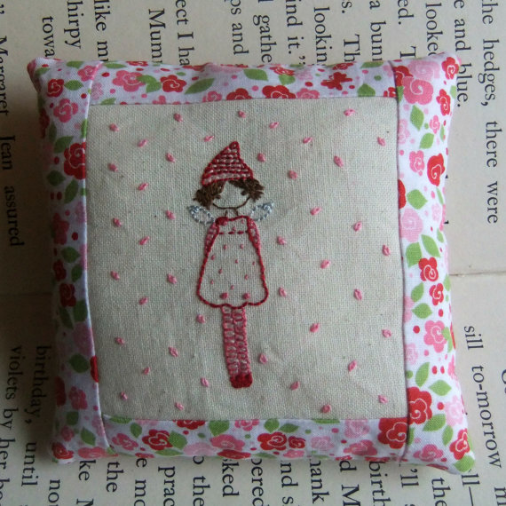 rosebud tooth fairy pillow