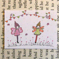 there are fairies in my garden aceo