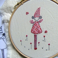 tooth fairy  embroidery pattern pdf