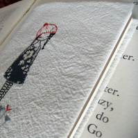 hand embroidered covered journal