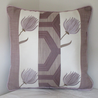 Lilac Patchwork Cushion
