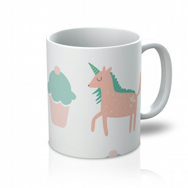 Cupcakes And Unicorns Mug