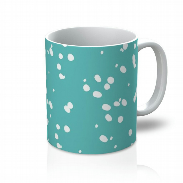 Teal Dotty Mug