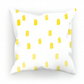 Yellow Ombre Dots Cushion
