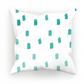 Teal Ombre Dots Cushion