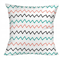 Colourful Zigzags Cushion