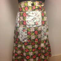 Handmade Patchwork Rose Apron Great British Bake Off Retro,Vintage Style