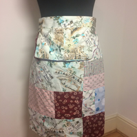 Handmade Patchwork Apron Great British Bake Off Retro,Vintage Style