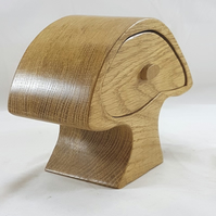 Oak Mushroom Wooden Bandsaw Jewellery Trinket Box