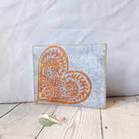 Hand Printed Shelf Tile