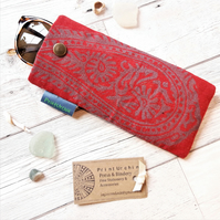 Hand Printed Glasses Case