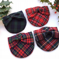 Retro Style Tartan Fascinators in Red Green and Black Stocking Fillers